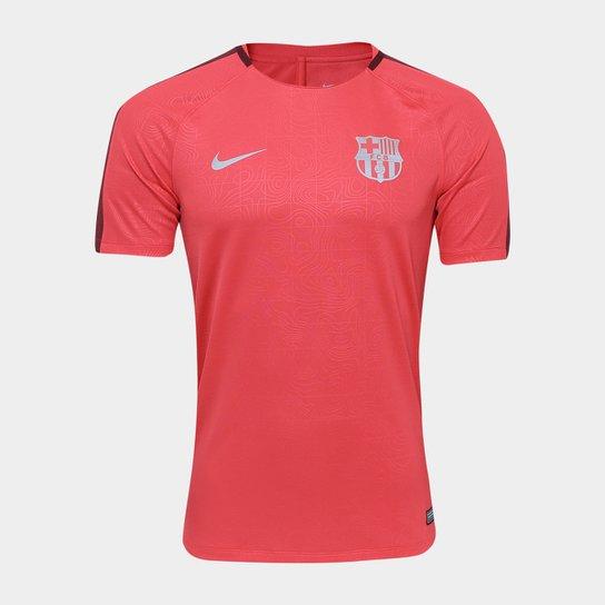 Camiseta Barcelona Squad Top SS Nike Masculina - Vermelho - Compre ... 3bf14693e51cf