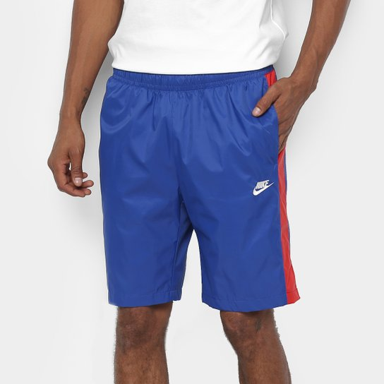 35f463f990 Bermuda Nike M Nsw Ce Short Wvn Core Trk Masculina - Marinho+Vermelho