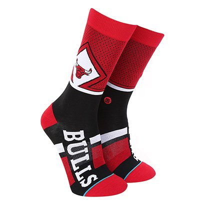 Meia Stance NBA Chicago Bulls Arena Collection Shortcut Masculina
