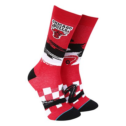 Meia Stance NBA Chicago Bulls Arena Collection Wave Racer Masculina