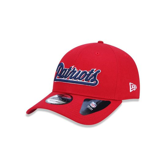 1f75f792cdd1d Boné 920 New England Patriots NFL Aba Curva Strapback New Era - Vermelho ...