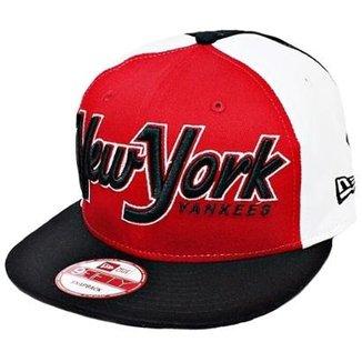 679e26a9a Boné New Era Aba Reta Snapback Mlb Ny Yankees Snapitback