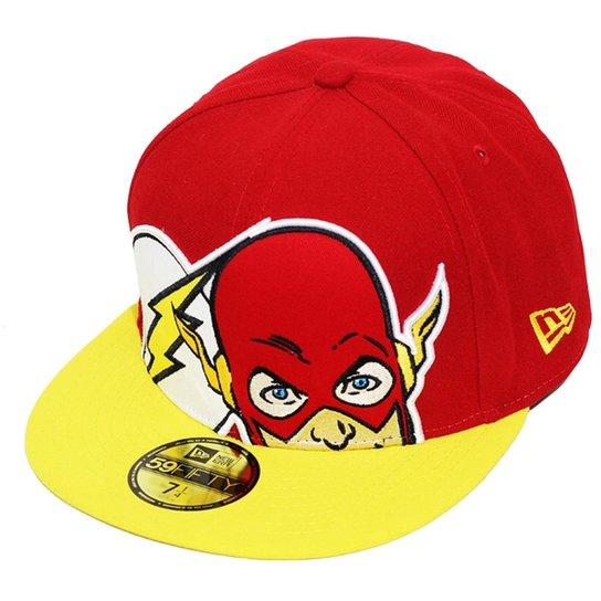 Boné New Era Aba Reta Fechado Flash Hcl - Vermelho - Compre Agora ... 63d78d1ba36