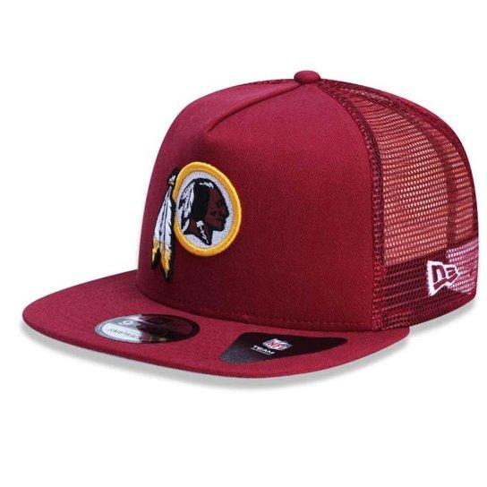 33ae4b75b Boné Washington Redskins Team Wash Trucker New Era - Compre Agora ...