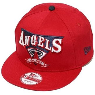 Boné New Era Aba Reta Snapback Mlb Angels Team Angle c276310e174