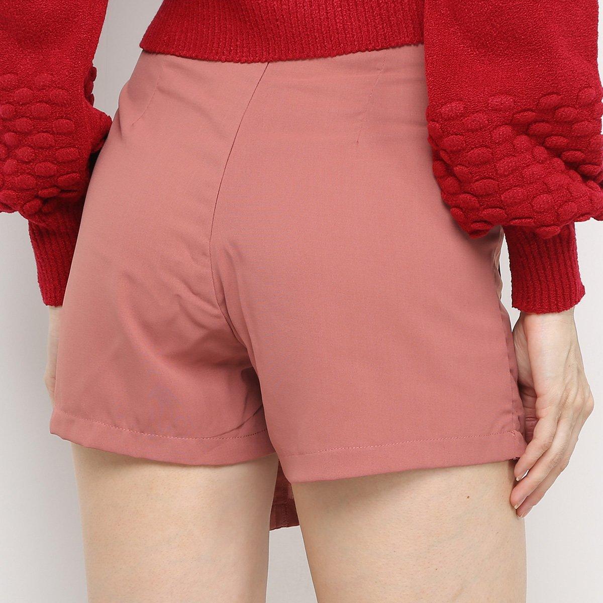 Foto 2 - Shorts Saia Adooro! Com Bolso E Botões Feminino
