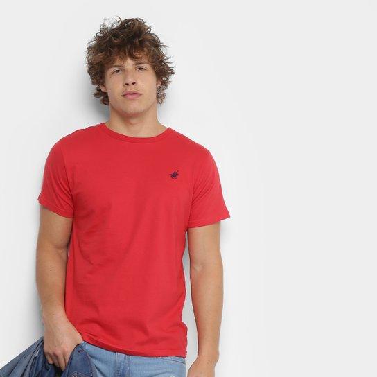 8e5d9f3f26 Camiseta Polo UP Gola Careca Masculina - Vermelho
