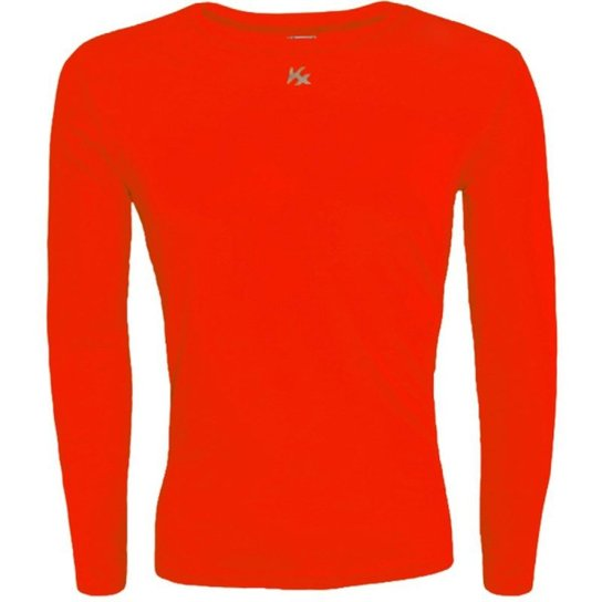 Camisa Térmica Infantil Fator Proteção Solar Uv50 5875 - Vermelho ... b449358ec8349