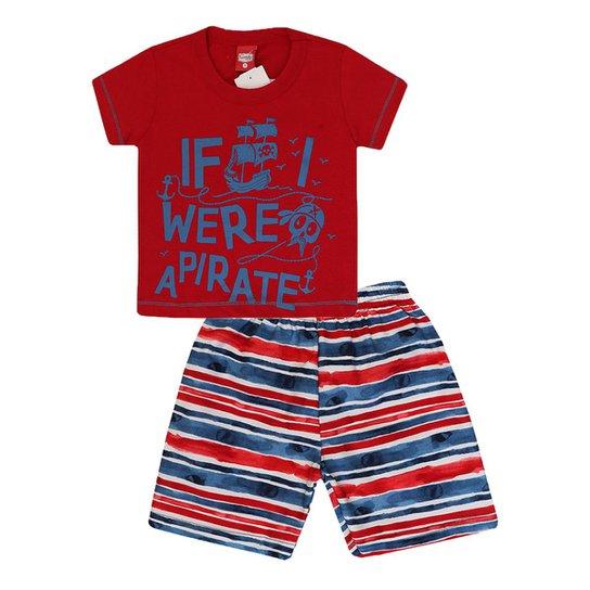 55ab80df23 Conjunto Camiseta e Bermuda Pirata Gueda Kids Masculino - Compre ...