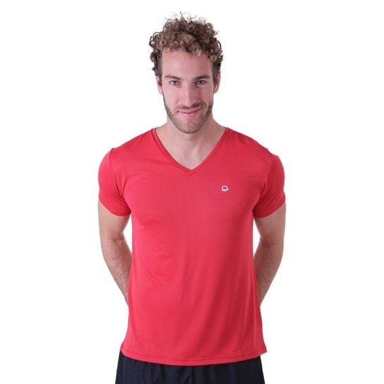5c9fa4855e Camiseta Líquido Gola V New Fit Masculina - Vermelho
