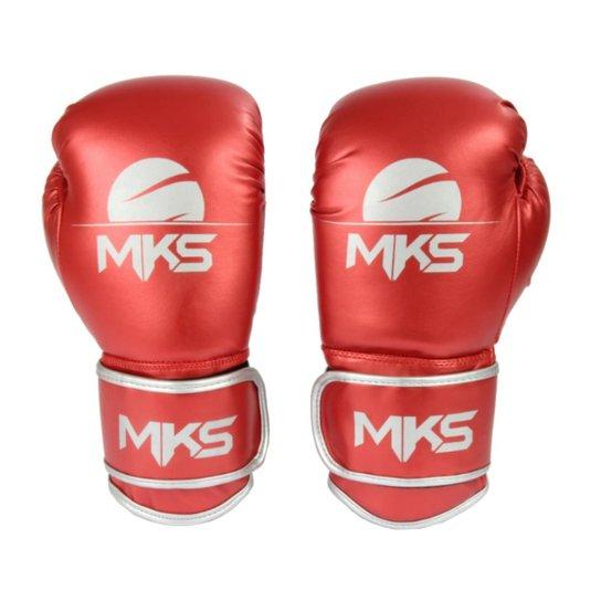 f5b4c2dc0 Luva Boxe Muay Thai Mks Combat Energy - Vermelho - Compre Agora ...