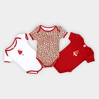 Kit de 3 Bodies Infantis Candy Kids