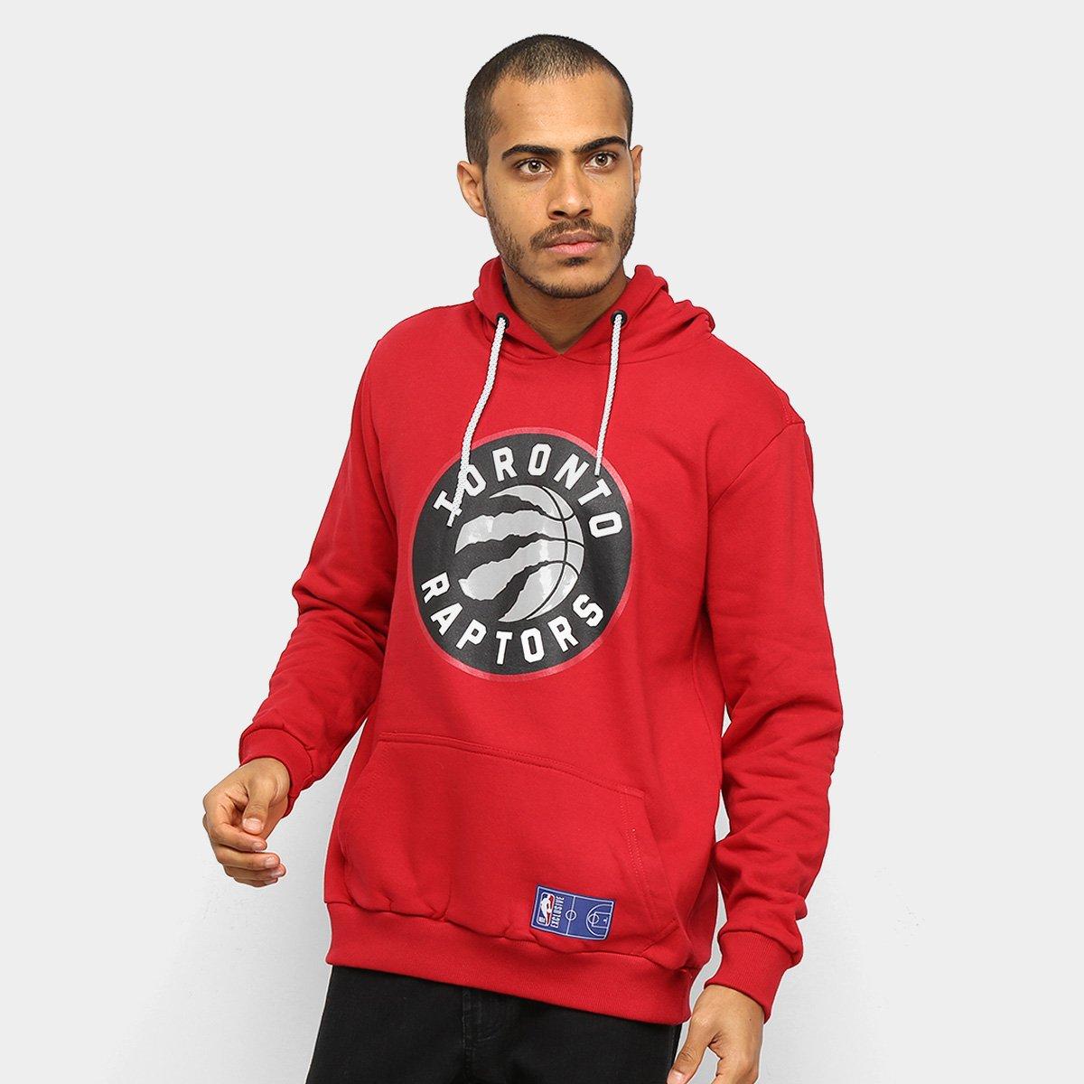 Moletom NBA Toronto Raptors Canguru Masculino