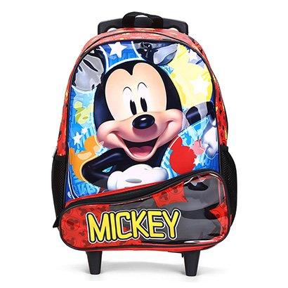 Mochila Infantil Escolar Xeryus Hey Mickey Disney Com Rodinhas