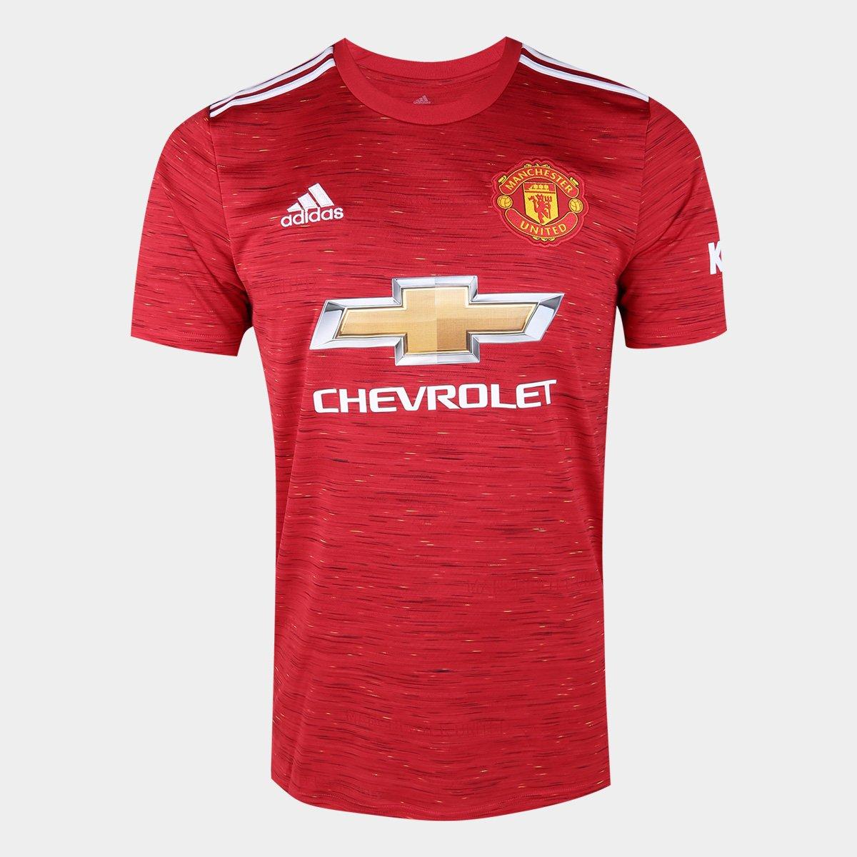 Camisa Manchester United Home 20/21 s/n° Torcedor Adidas Masculina