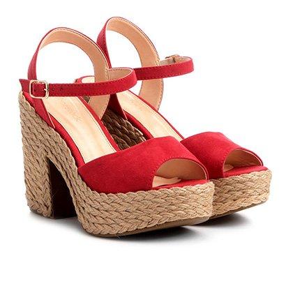 Sandália Shoestock Meia Pata Corda Camurça Feminina