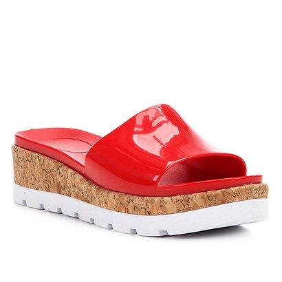 Sandália Plataforma Shoestock Verniz Feminina