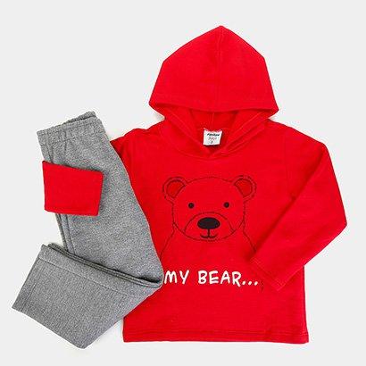 Conjunto Moletom Infantil Rovitex Estampa Urso