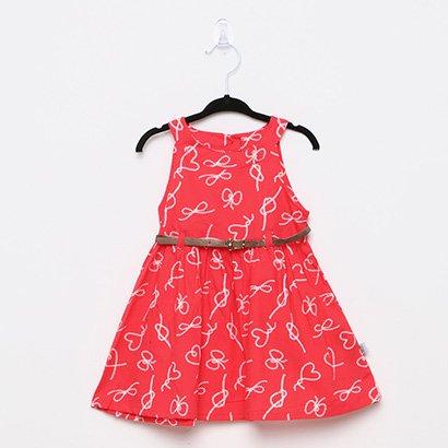 Vestido Infantil Rovitex Cinto Lacinhos