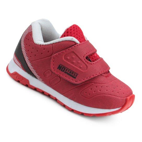 Tênis Infantil No Stress BB Velcro - Vermelho - Compre Agora  fe40ab9fcecb3