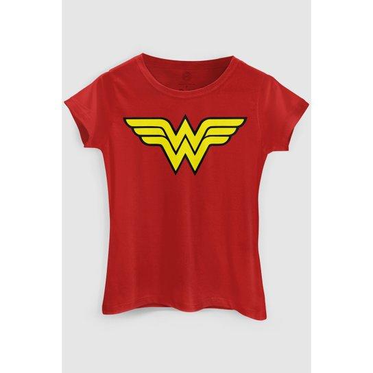Camiseta DC Comics Wonder Woman bandUP! - Vermelho - Compre Agora ... 05cc9ca51abd0