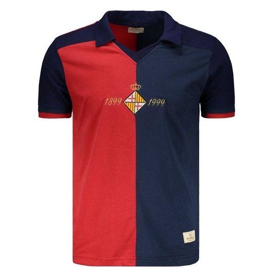 Camisa Retrômania Barcelona 1999 - Marinho e Vermelho - Compre Agora ... 71ef33ec7ae75