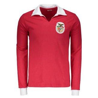 Camisa Benfica Retrô 1962 Manga Longa Masculina c2621fdf42f07