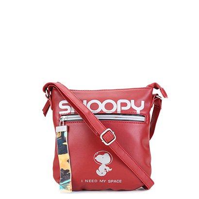 Bolsa Snoopy Transversal Estampada Feminina