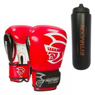 5997f8f01 Kit Luva De Boxe Pretorian Elite 14Oz Vermelha + S