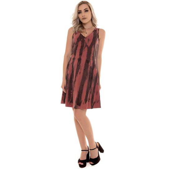 ca0f53969 Vestido Osmoze Tie Dye Feminino - Vermelho