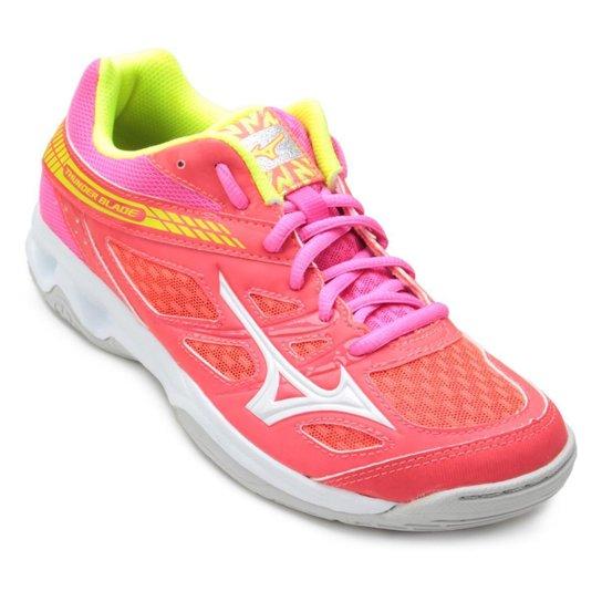 0759330ffcabb Tênis Mizuno Thunder Blade Feminino - Rosa e Amarelo | Netshoes