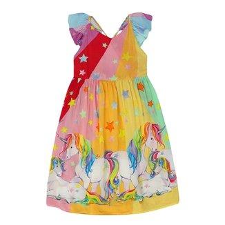 Vestido Infantil Siri Estampa Unicórnio 934814e8a41
