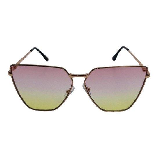 Óculos de Sol Khatto Sun Feminino - Rosa e Amarelo - Compre Agora ... 12308c11de