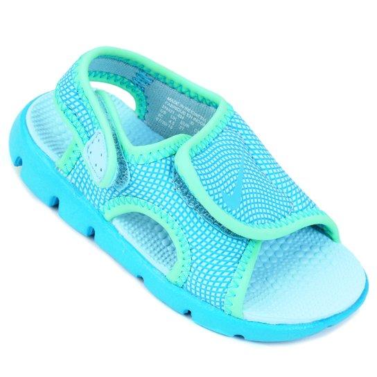 bbfd7b589db Sandália Nike Sunray Adjust 4 Infantil - Azul Claro e Branco ...