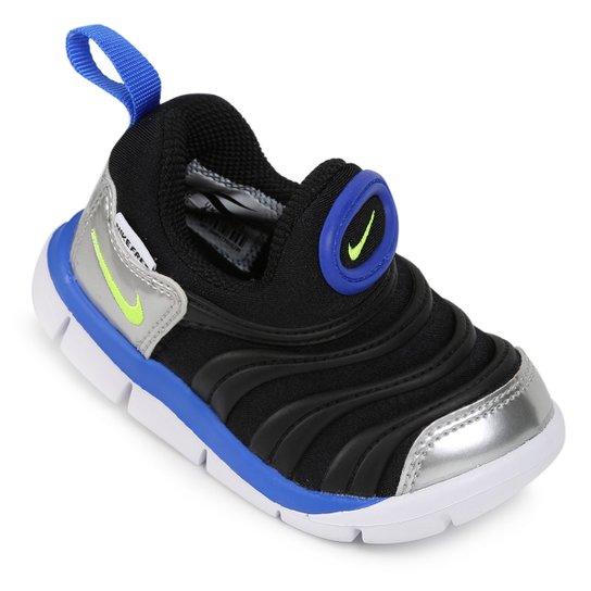 a68ce9dcf Tênis Infantil Nike Dynamo Free - Preto e Azul - Compre Agora