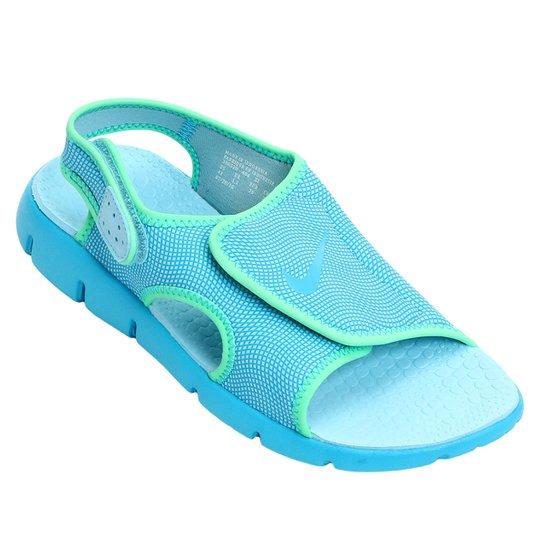 5c27cdcff082a Sandália Infantil Nike Sunray Adjust 4 GGP Feminina - Azul e Verde ...