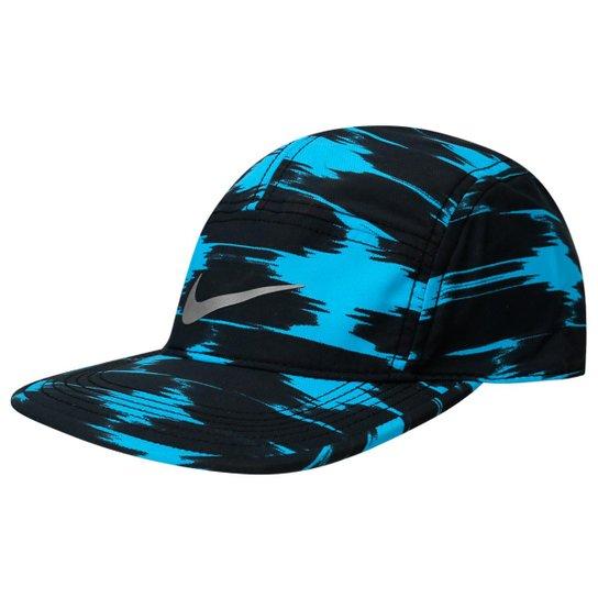 Boné Nike Graphic AW84 - Preto+Azul Turquesa 2b62fe07a00