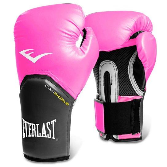 6c43926c9 Luva de Boxe Muay Thai Everlast Pro Style 14 oz - Rosa e Cinza ...