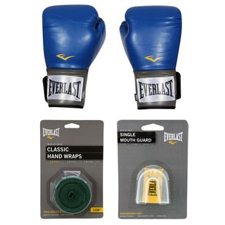 efe11ebfbd Kit Everlast Luva de Boxe Muay Thai Pro Style - 14 oz + Bandagem Elástica