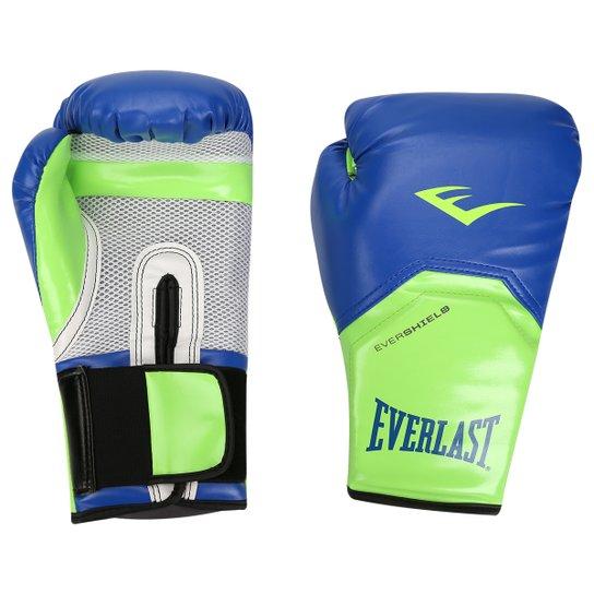 2fe4f3eeb Luva de Boxe Muay Thai Everlast Pro Style Elite Training 14 oz - Azul+