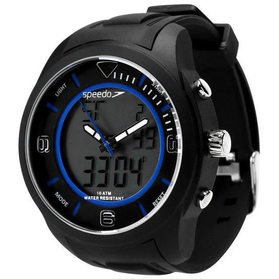 30920b6c0b1 Relógio Speedo Digital 69018G0EVNV - Preto e Azul