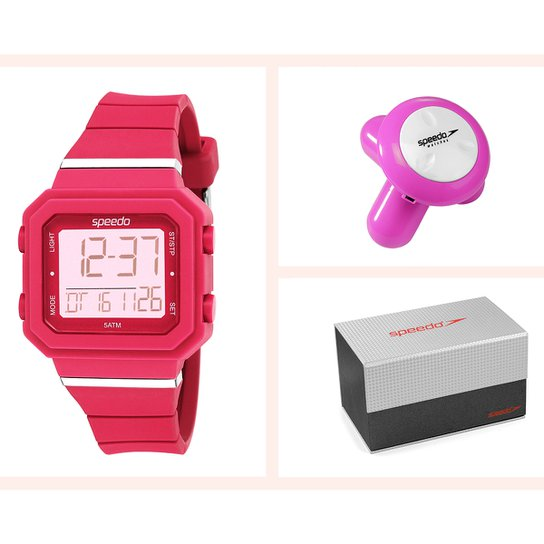 e9b34b5b895 Kit Relógio Speedo Digital 18007L0EBNP1K - Compre Agora