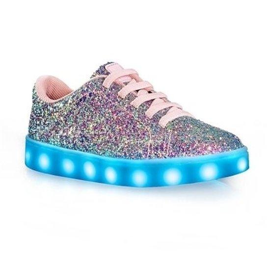 025f7115d86 Tênis De LED Infantil Bibi Clique-se Colors Glitter - Compre Agora ...