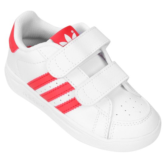 online retailer 87725 60c34 Tênis Adidas Alumno CF Infantil - Branco+Salmão