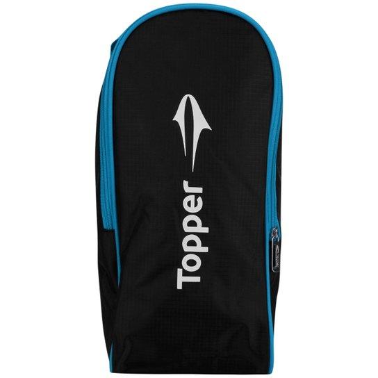 73dce189f0bb2 Porta-chuteira Topper Training Boot - Preto e Azul Turquesa | Netshoes