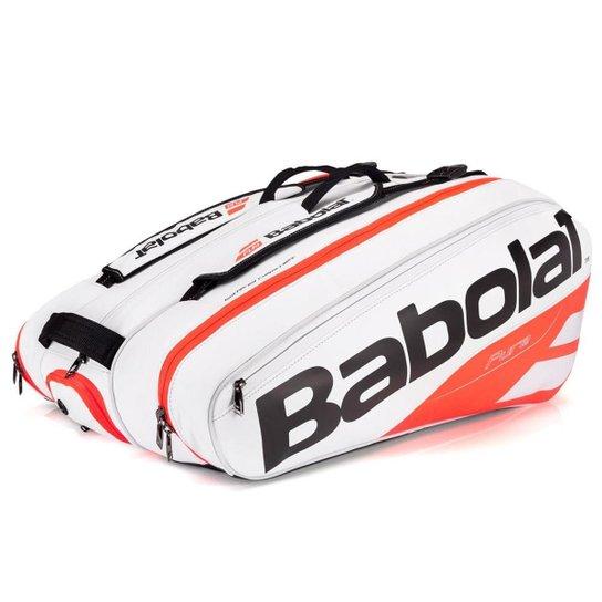 2683ed53f Raqueteira Babolat Pure Strike X12 - Branco+Laranja ...