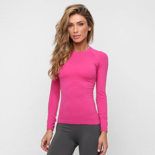 Camiseta Lupo Sport Térmica I-Core Manga Longa Feminina - Pink ... 24a8a6938ac72