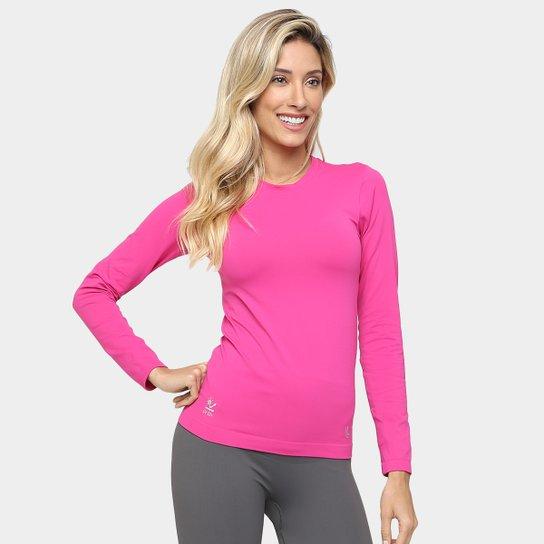 9444027c14 Camiseta Lupo Sport Com Proteção UV Manga Longa Feminina - Rosa ...