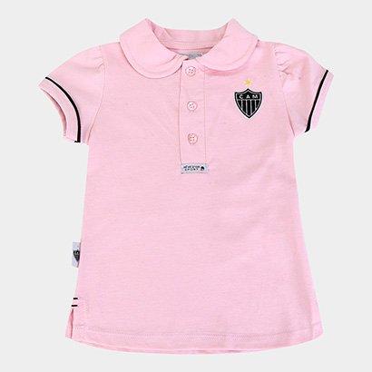 Camisa Polo Infantil Atlético Mineiro Feminina