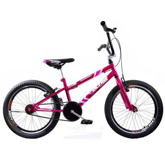 3e025d33d4b58 Bicicleta Cross Bmx Aro 20 Ultra V Break Cromada - Rosa   Netshoes
